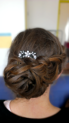 Gala kapsel Model: Mariëlle Dekker Visagie & hairstyling: Monika Murris-Nikken